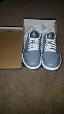 NEW NIKE AIR JORDAN 1 (I) LOW size 9.5 COOL GREY / WHITE - COOL GREY xxxi xv xi