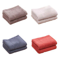 Soft 100% Cotton Absorbent Terry Hand Bath Beach Face Towel Washcloth 34x74cm