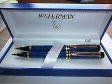 Waterman Man 200 Blue Ripple Ballpoint Pen & Pencil - Brand New
