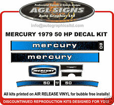1979 MERCURY 50 hp DECAL KIT  reproductions stickers