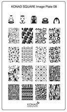 Konad Stamping Nail Art Square Image Plate 8