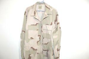 Army Desert Tri Color Camo DCU Shirt Large Regular Coat USGI 3 BDU
