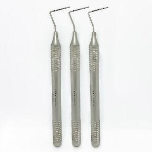 3x Dental 15UNC Perio Probe, High Quality Dental Instruments CE Hollow Handle