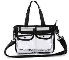 Clear Make Up Hairdresser Large Tote Bag Make up Kit Set Bag Travel Handbag PVC