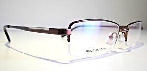 Semi Rimless optical eyeglasses designer spectacles prescription glasses frame