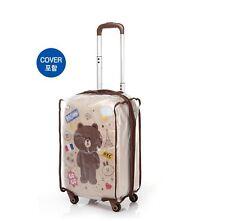 """YJMAM Korea LineFriends Samsonite Travel Luggage Gentle Brown Spinner 20"""""""