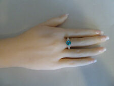 22k Gold ring (plated) CZ stones Sizes #5.5, #6, #6.5,#7. Green/Blue/Purple, NWT