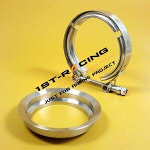 "T-304 3"" Pipe Flange + Clamp V-Band Marmon Borg Warner Turbo S369 SX-E S200 S300"