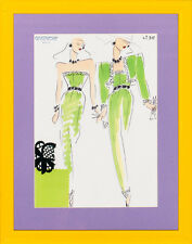 """Fab, Original Givenchy Glam No. 36 Couture Fashion Plate"""