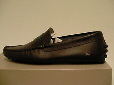 Lacoste casual shoes concours 10 spm leather dark brown size 9 us men