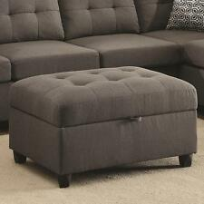 Stonenesse Grey Storage Ottoman With Button Tufting by Coaster 500414