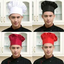 Adjustable Elastic Men Women Mushroom Caps Cooking Kitchen Baker Chef Hats