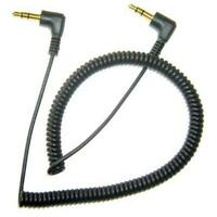 BLACK COILED AUX CABLE CAR STEREO WIRE AUDIO SPEAKER CORD for PHONE / TABLETS