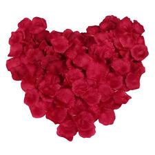 500pcs Pétales De Rose Fleur Artificielle En Tissu Décoration Mariage Rouge