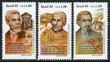 Brazil 2211-2213,MNH. Writers: C.de Abreu,Cora Coralina,Joaguim M.de Assis,1989