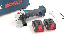 Bosch Professional GWS 18-125 V-LI Akku-Winkelschleifer 18 V Li-Ion Akku blau