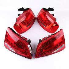 2Pcs LED Smoked Red Rear  Lights Lamps  For Audi A4 B8 2008-2012 Saloon
