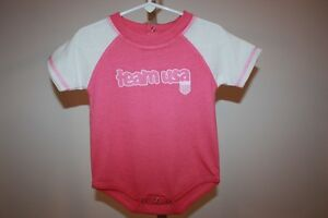 New-Mended- Olympics Team USA Infants 12 Months (12M) Pink Bodysuit