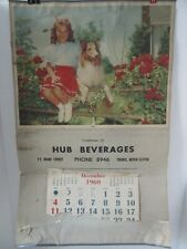 Old Advertising Calendar Hub Beverages Truro Nova Scotia 1960