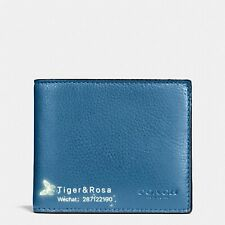 COMPACT ID WALLET IN SPORT CALF LEATHER (COACH F74991) SLATE