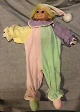 Russ Troll Doll Clown Terry Cloth With Zipper Storage