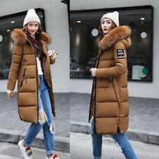Women's Winter Slim Hooded Long Padded Jacket Cotton Jacket Coat Parka Army Green 2xl