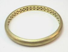 ADAMI AND MARTUCCI MARKED STERLING SILVER GOLD PLATED HALLOW BANGLE BRACELET **