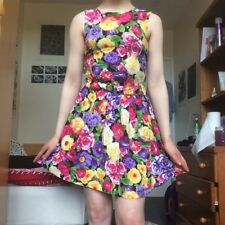 Floral American Apparel Sundress Vintage Grunge 90s XS S Cut Out Tie Back