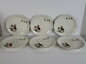 "Set 6 Vintage Syracuse ""Sundown"" Western Cowboy Luncheon/Salad Plates 8 1/4"""
