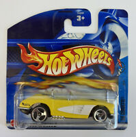 2002 Hotwheels 58 Chevy Corvette Yellow, American Muscle, Mint! Very Rare!