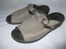 Mephisto Grey Suede Slip On Open Toe Shoes - Womens EUR 38, US 8
