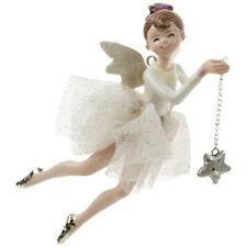 Ballerina Fairy Girl Pink Gold Star Christmas Ornament Figurine Resin R