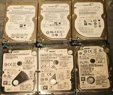 "2.5"" SATA laptop hard drives -  500GB - USED (lot of 6)"