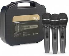 Stagg SDMP15-3 - Set of 3 Dynamic Handheld Vocal Microphones *Excellent Quality*