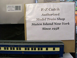 BRAND NEW O SCALE 4 car Jersey Central Blue Comet 72' Heavyweight Passenger Set
