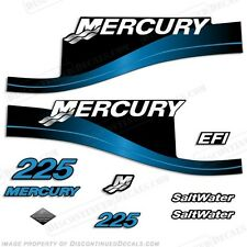 Mercury 225hp Saltwater Series Outboard Decal Kit 1999-2004 - Blue