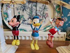 Vintage Mickey Mouse Donald Duck Pinoccio String Puppet Walt Disney  Hong Kong