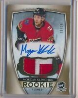 2018-19 The Cup Rookie Patch AUTO Gold 128 Morgan Klimchuk /24 Calgary Flames