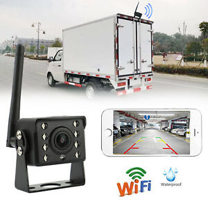 WiFi Wireless Car Truck RV Trailer Rear View Backup Camera CCTV For iOS Android/
