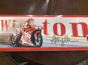 Action NHRA  Angelle Seeling Winston Pro Stock Motorcycle 1999 w Autograph