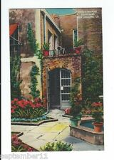 Postcard Linen Little Theatre Courtyard New Orleans, LA. 1930-40's Era Excellent