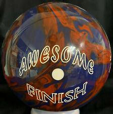 """15 LB Awesome Finish Bowling Ball  HUGE HOOK NEW IN BOX!!   Pin 2-3""""  RARE!"""