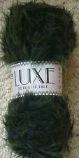 King Cole Luxe Fur 100 Nylon Stylish Soft Fashion Knitting Wool Yarn 100g Fir 1041