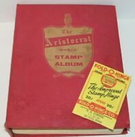 Aristocrat World Stamp Album 1956 By Grossman Stamp Co (1286 Collectible Stamps)