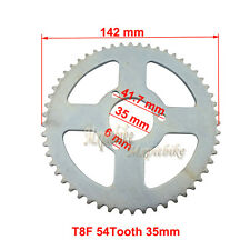 T8F 54Tooth 35mm Rear Sprocket For 47cc 49cc MiniMoto ATV Dirt Baby Cross Bikes