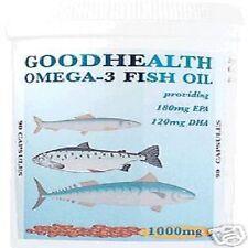 """Aceite de pescado omega-3 (1000mg) 180 CÁPSULAS """"FREEPOST »"""