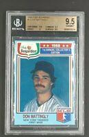 1988 Chef Boyardee #16 Don Mattingly Hand Cut Yankees BGS 9.5 Gem Mint Very Rare