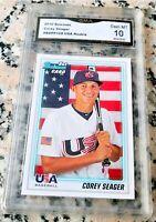 COREY SEAGER 2010 Bowman #1 Draft Pick Rookie Card RC GEM MINT 10 Dodgers HOT $$