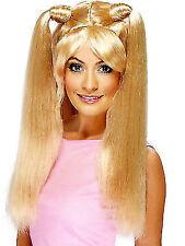 Ladies 1990s Baby Power Blonde Wig Fancy Dress Costume Accessory