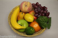 9 Mixed Pieces of Best Artificial Fruit Realistic Decorative for Bowl or Basket